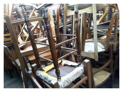 des chaises à chiner